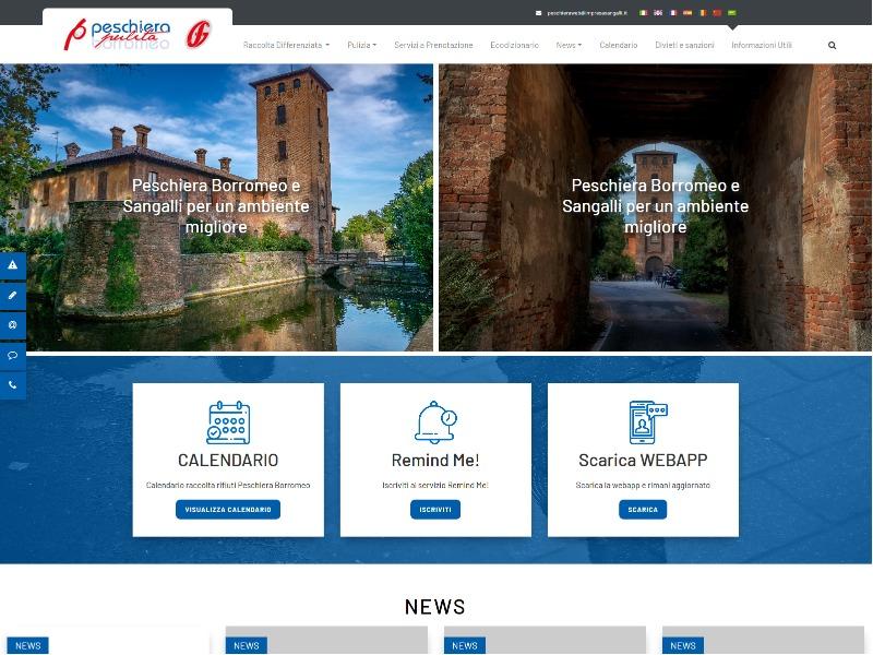 Online il portale Peschiera Pulita della Impresa Sangalli